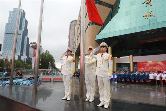 """""""五星红旗飘起来""""哈啰与石家庄人民喜迎新中国70周年华诞"""
