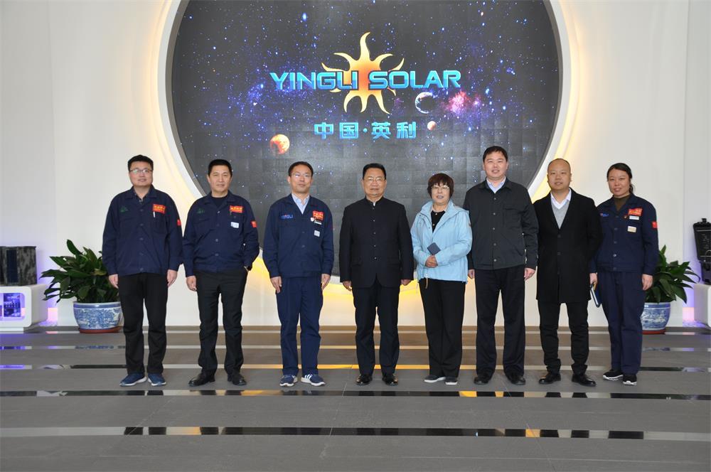柳忠勤考察中国英利集团