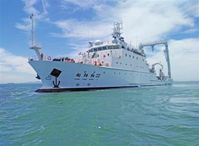 """我国首艘大型浮标作业船""""向阳红22""""船入列"""